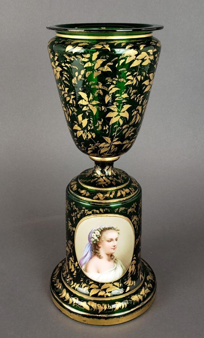 Large 19th C. Bohemian Vase