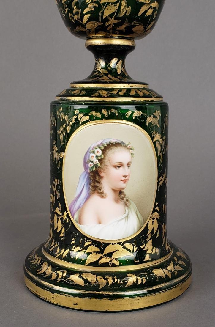 Large 19th C. Bohemian Vase - 2