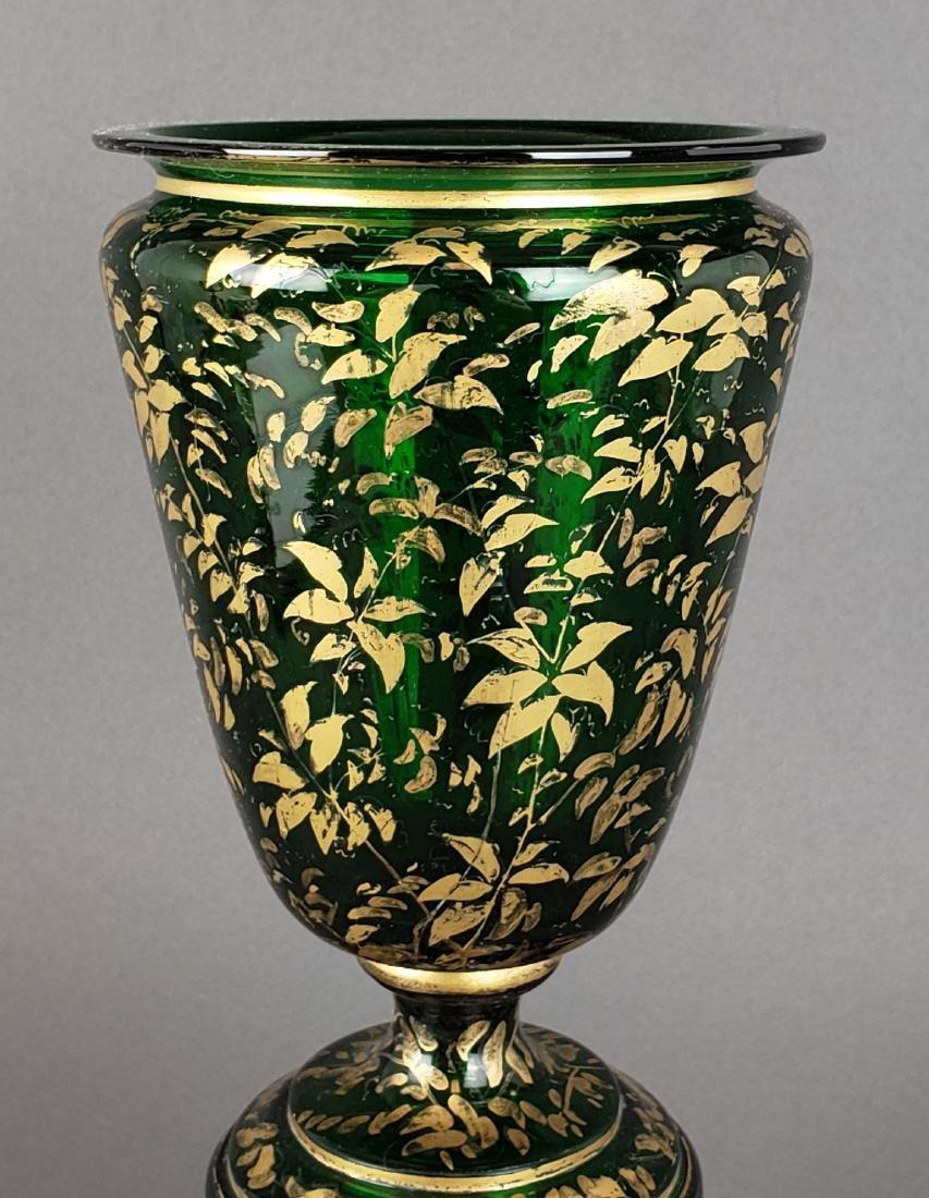 Large 19th C. Bohemian Vase - 3