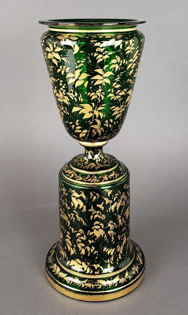 Large 19th C. Bohemian Vase - 4