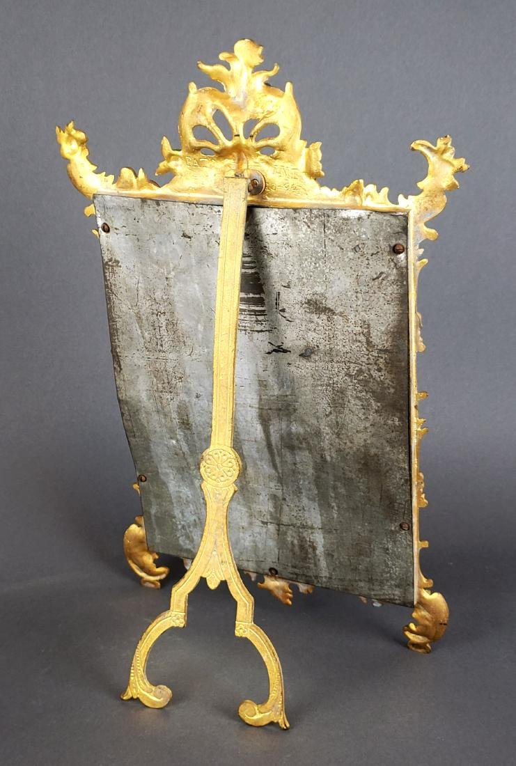 19th C. French Gilt Bronze Mirror - 4