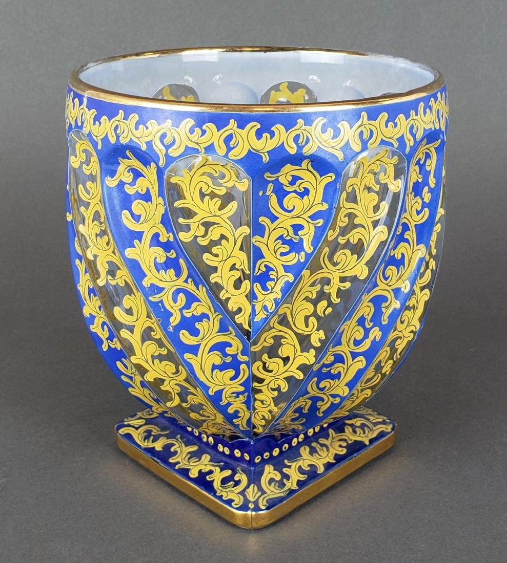 19th C. Bohemian Overlay Vase