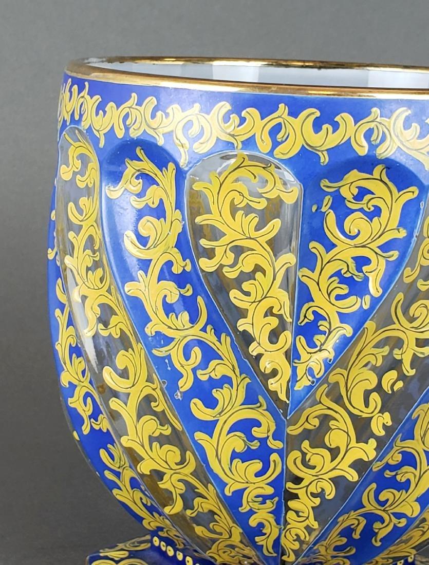 19th C. Bohemian Overlay Vase - 2