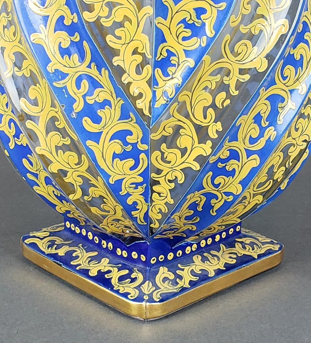 19th C. Bohemian Overlay Vase - 3