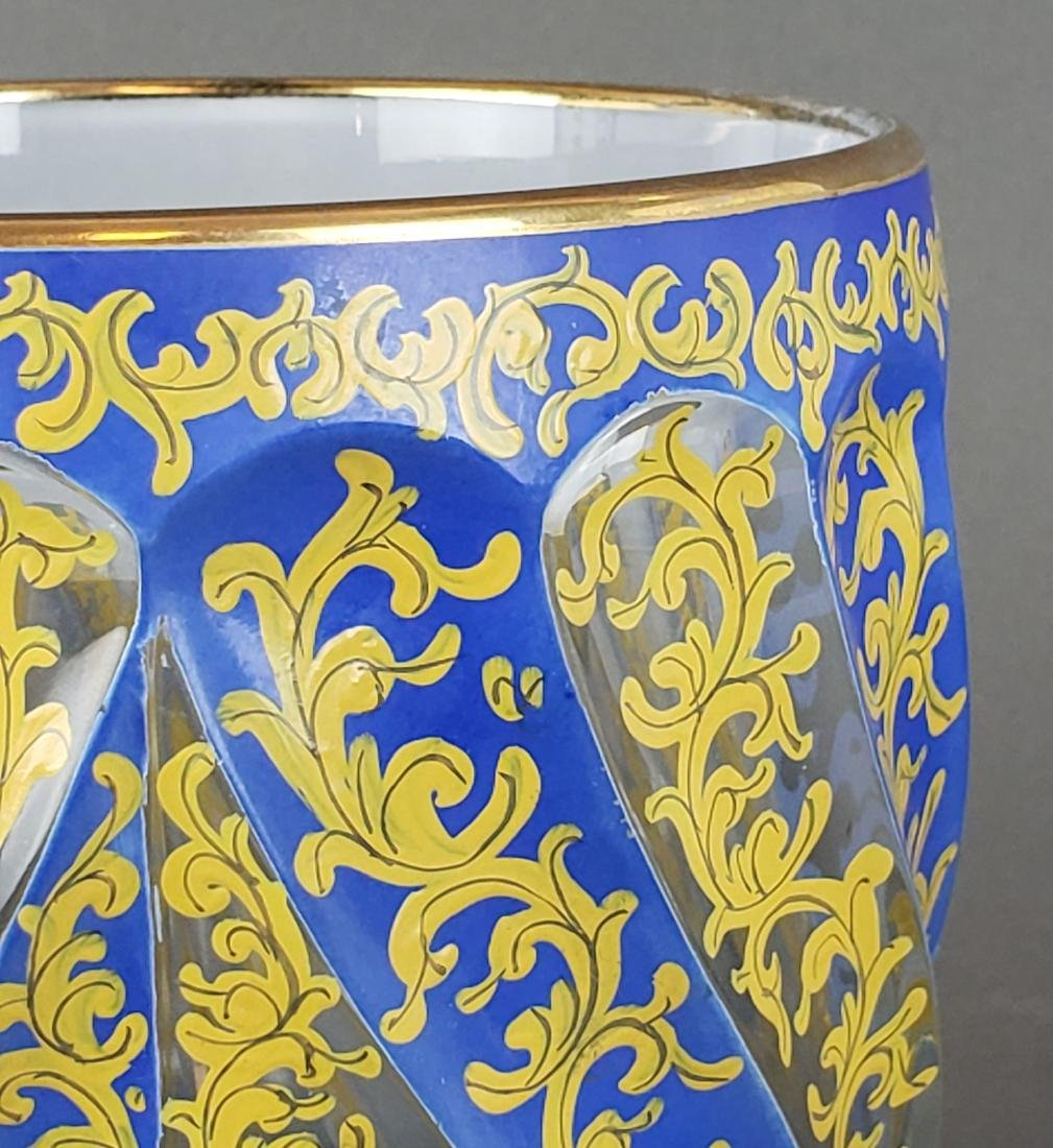 19th C. Bohemian Overlay Vase - 4