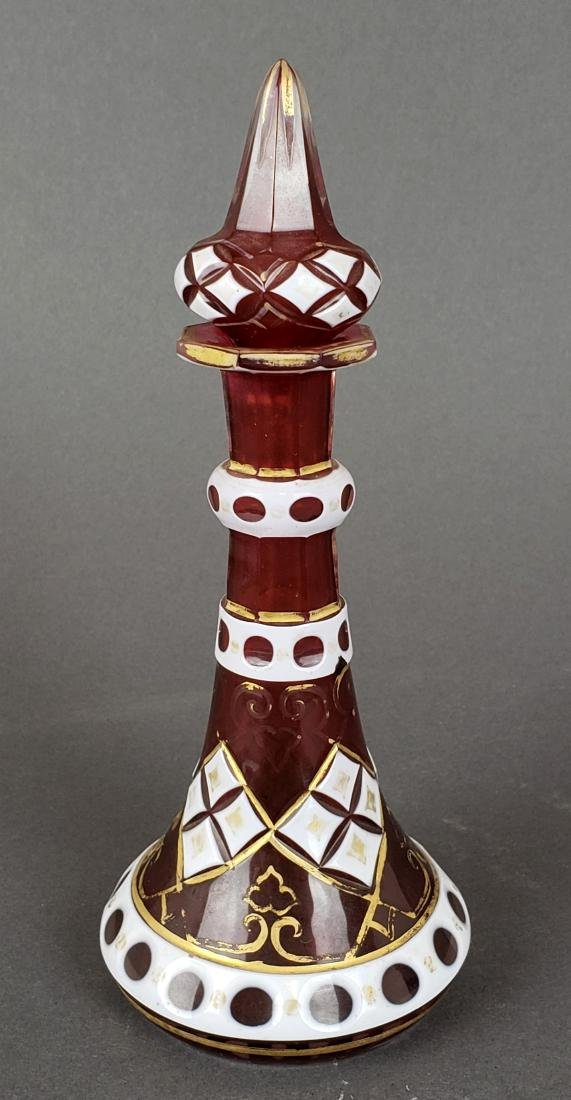 19th C. Bohemian Perfume Bottle