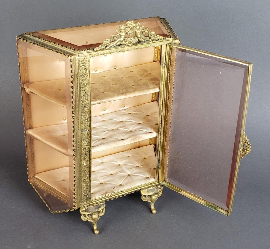 19th C. French Bronze and Glass Jewelry Box - 2