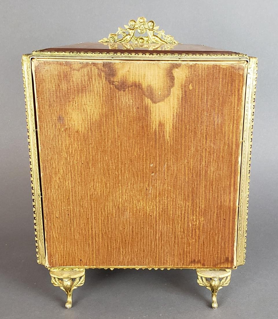 19th C. French Bronze and Glass Jewelry Box - 5