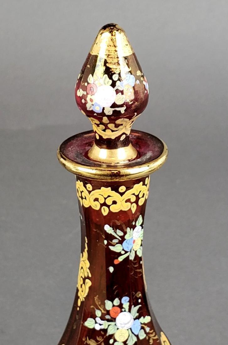 19th C. Bohemian Perfume Bottle - 3