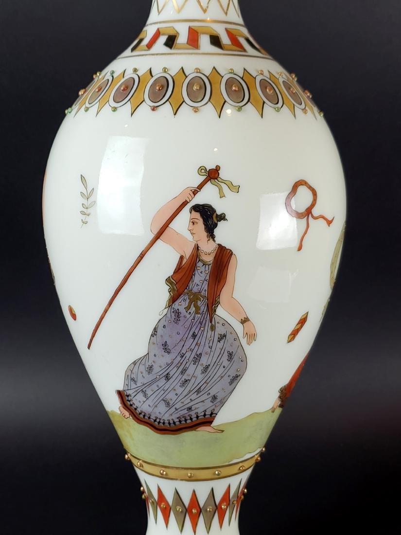 Large Opaline Glass Jewelled Vase - 2