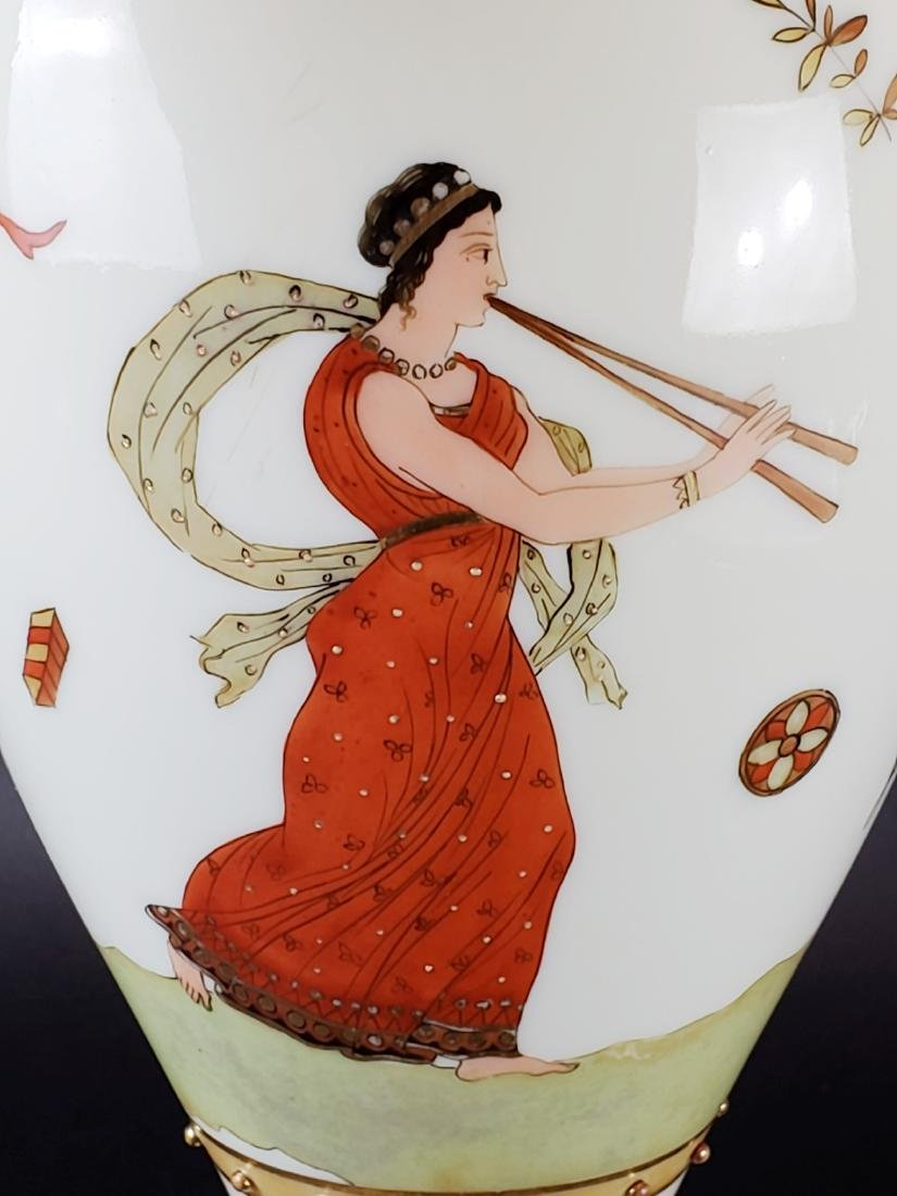 Large Opaline Glass Jewelled Vase - 5