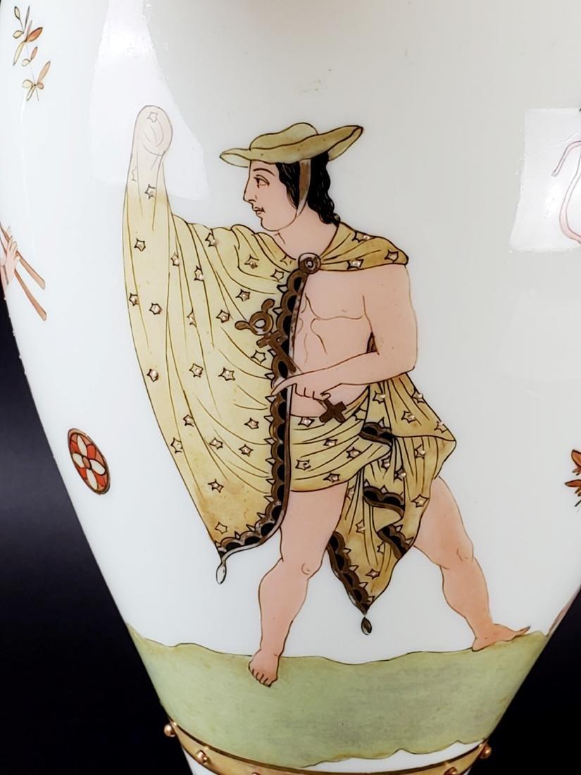 Large Opaline Glass Jewelled Vase - 6