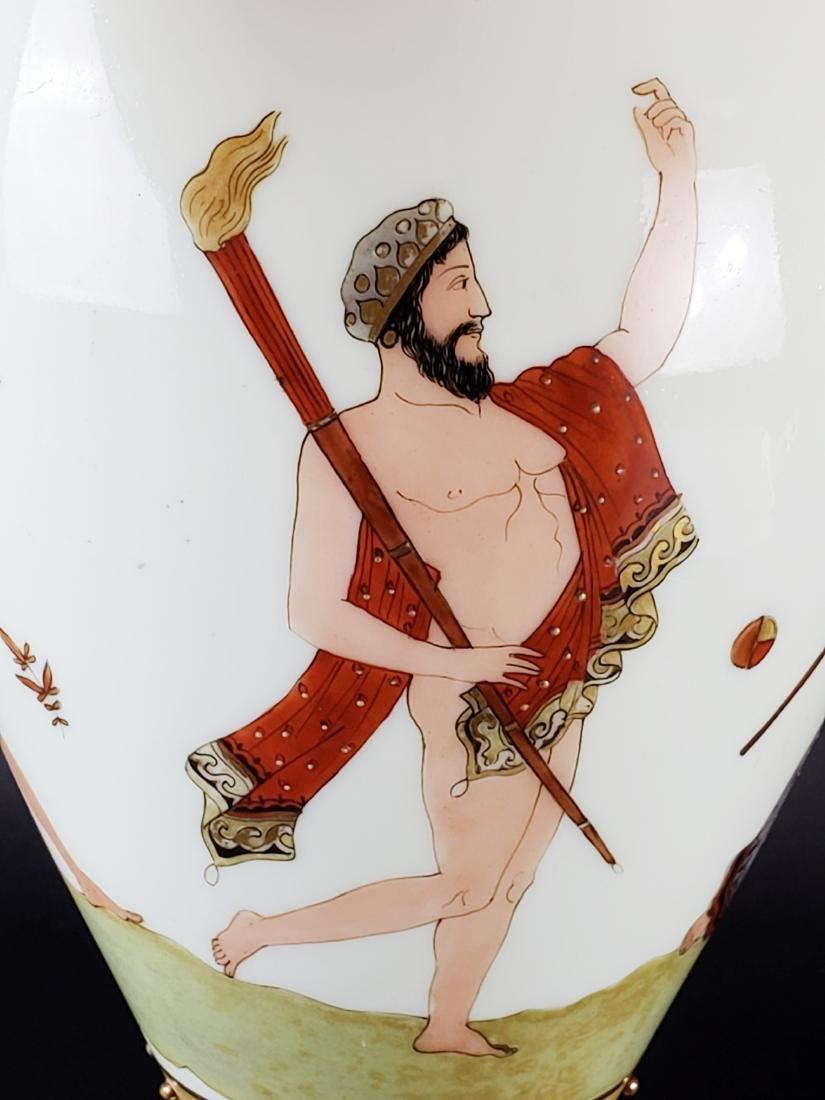 Large Opaline Glass Jewelled Vase - 7