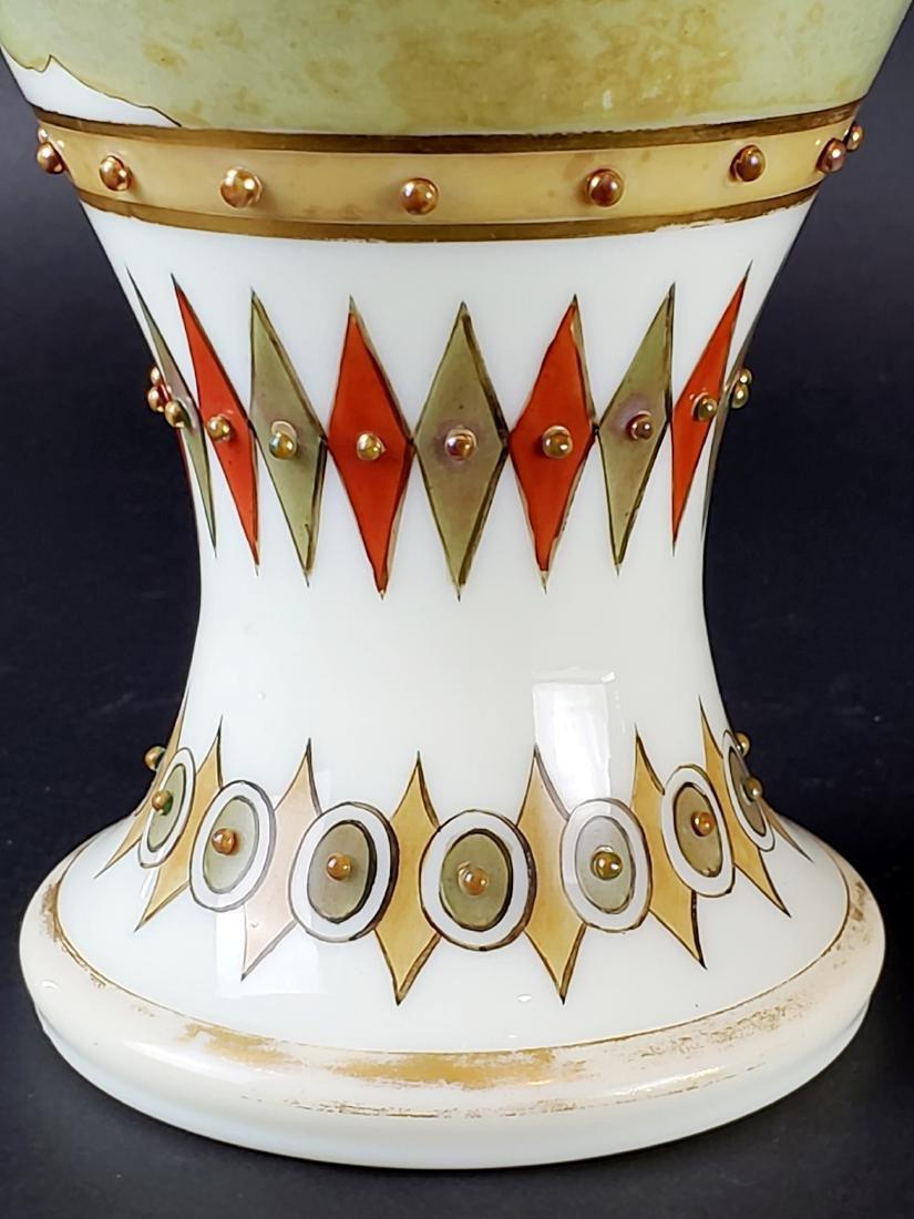 Large Opaline Glass Jewelled Vase - 8