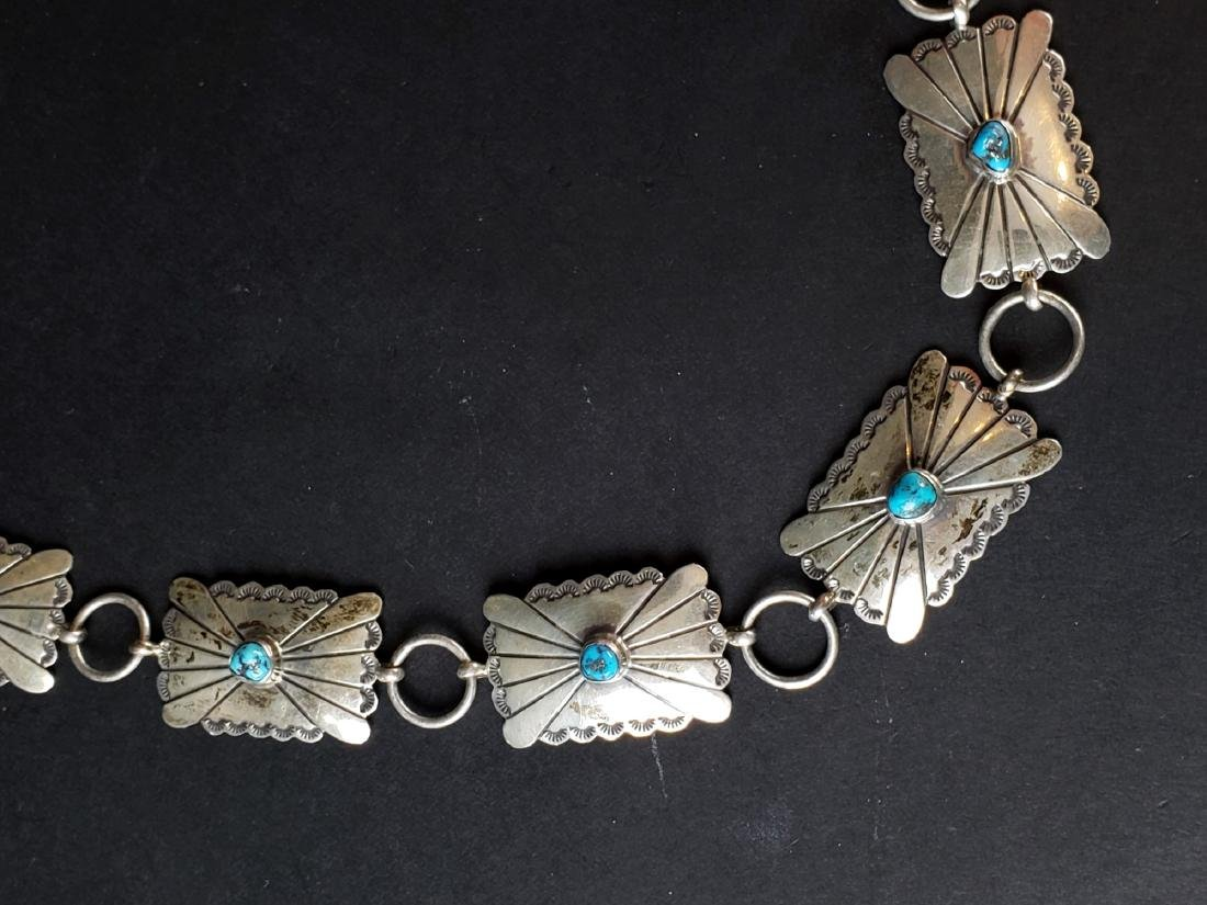 American Indian Silver & Turquoise Belt - 2