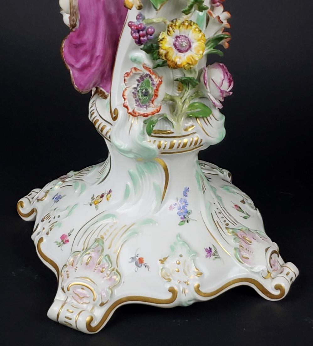 Pair of Large 19th C. Meissen Figural Porcelain - 10