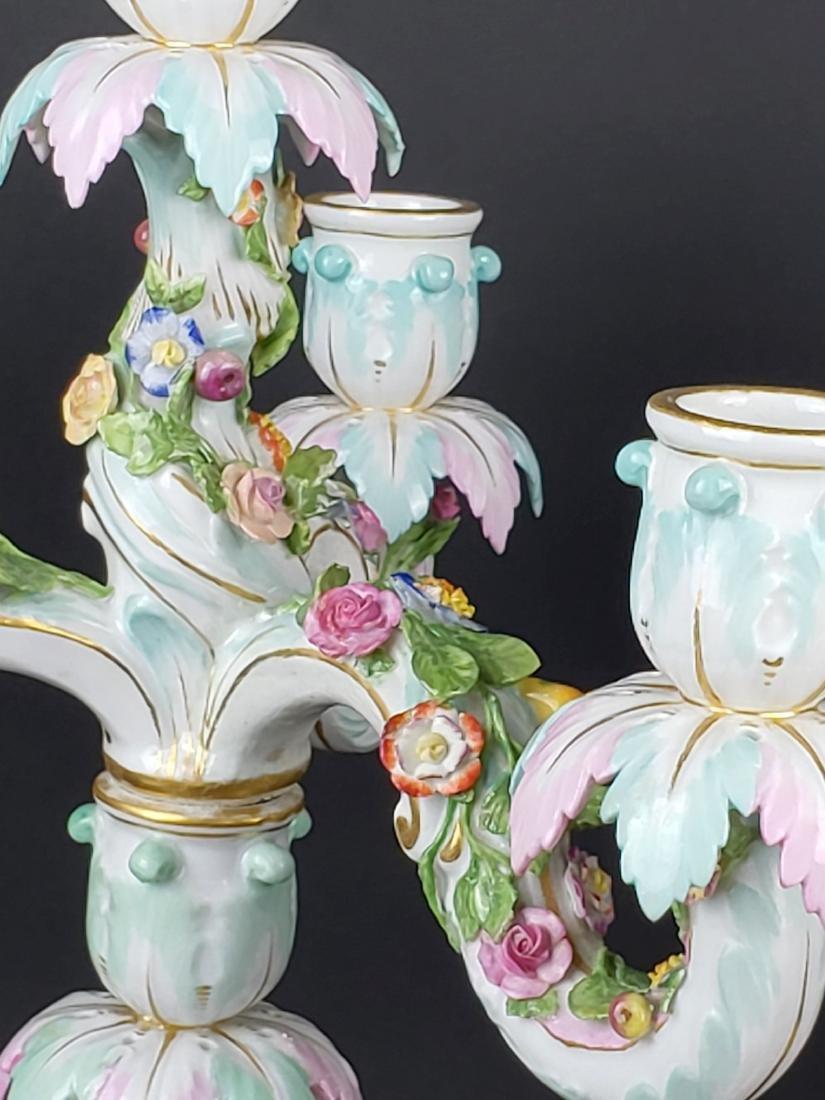 Pair of Large 19th C. Meissen Figural Porcelain - 3