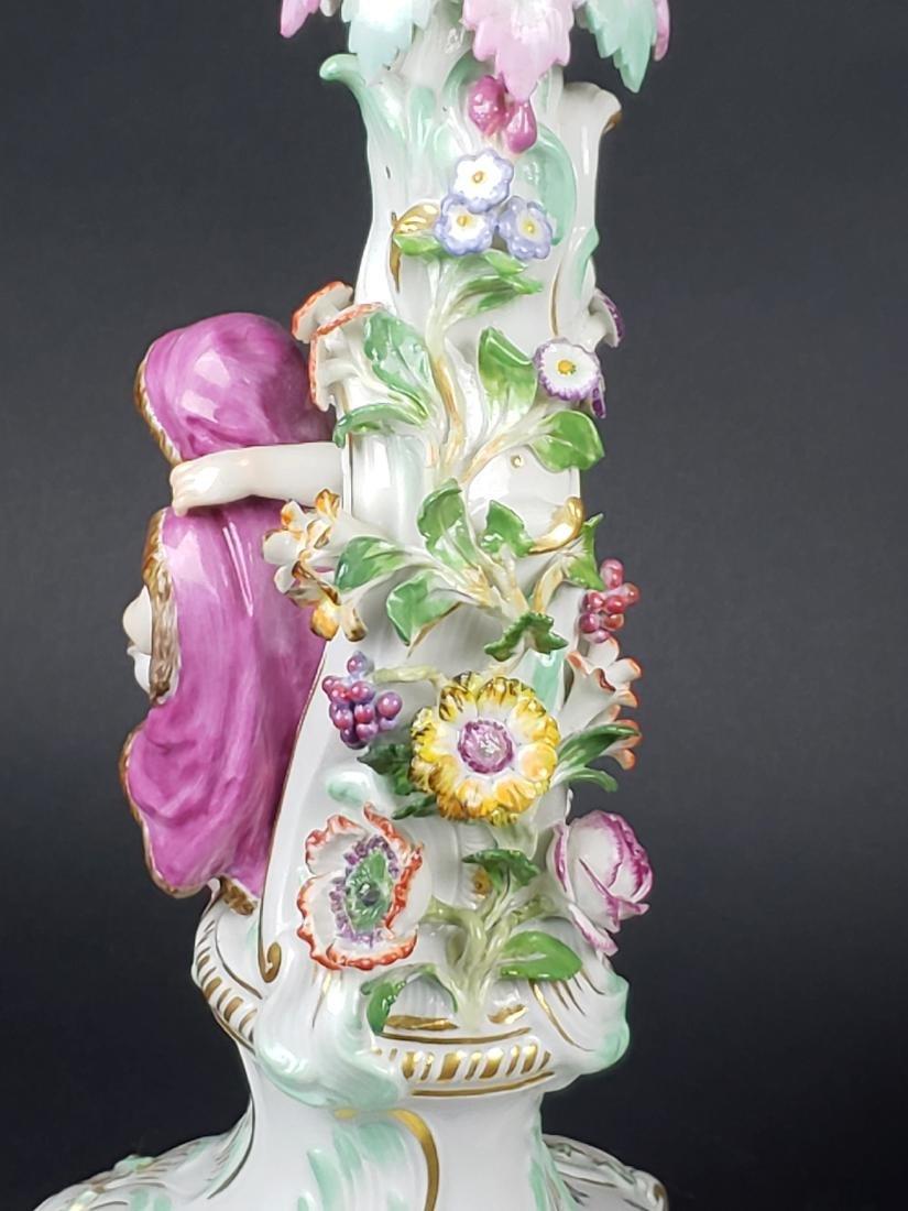 Pair of Large 19th C. Meissen Figural Porcelain - 9