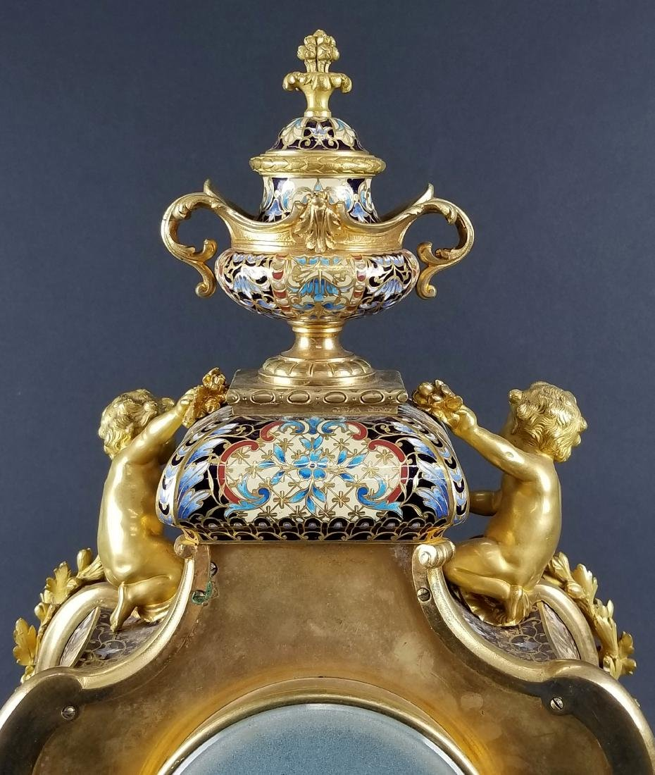 Late 19th C. Fench Louis XV Style Gilt Bronze & - 6