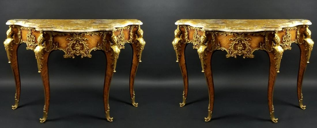 Magnificent Pair of F. Linke Louis XV Style Gilt Bronze
