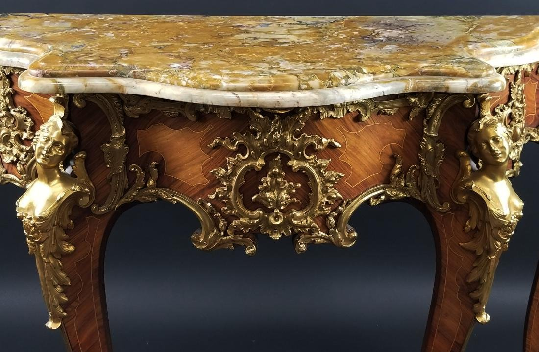 Magnificent Pair of F. Linke Louis XV Style Gilt Bronze - 4