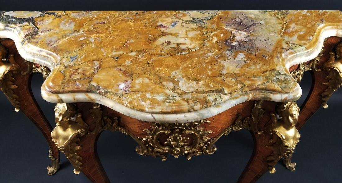 Magnificent Pair of F. Linke Louis XV Style Gilt Bronze - 6