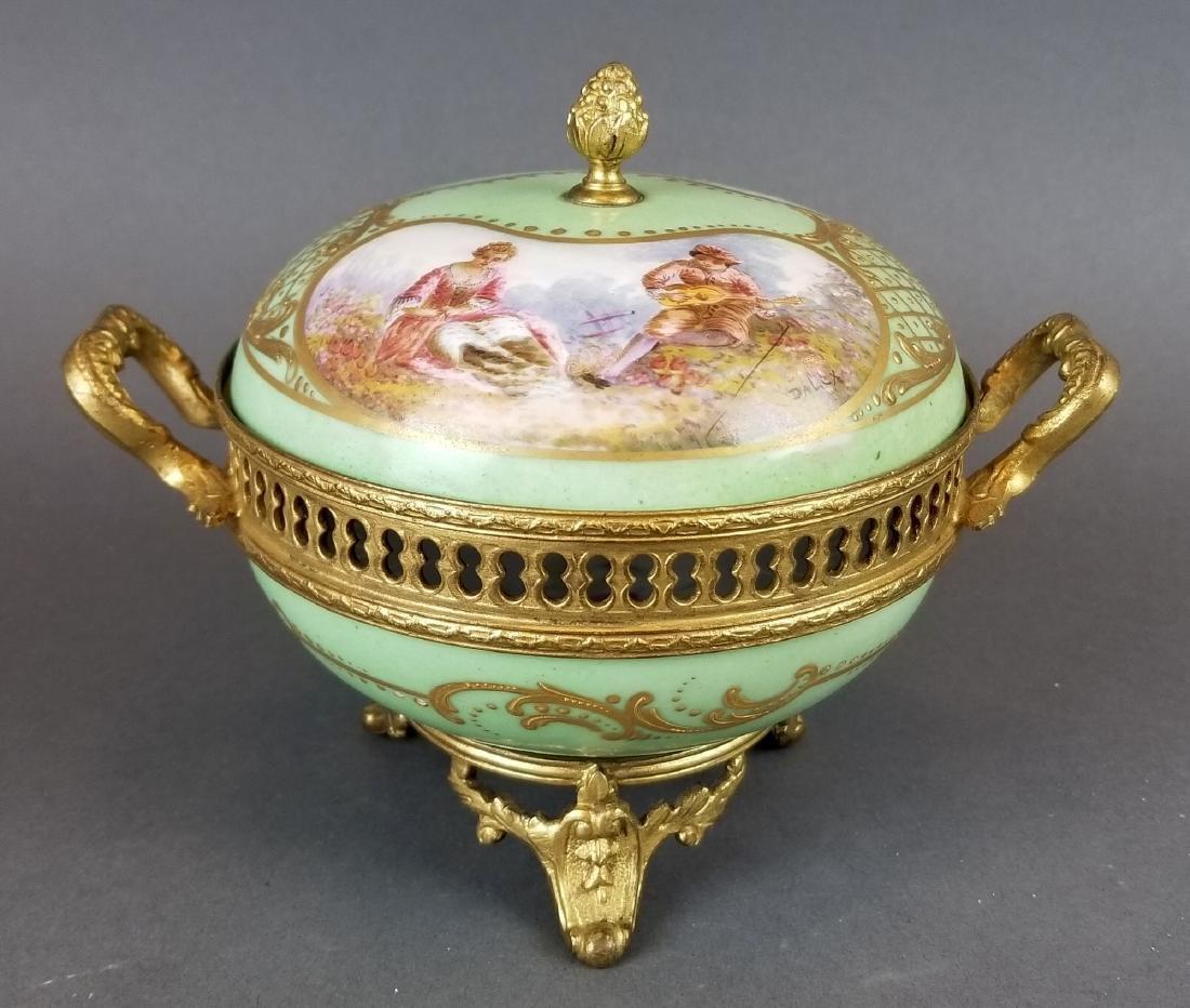 19th C. French Sevres & Bronze Box