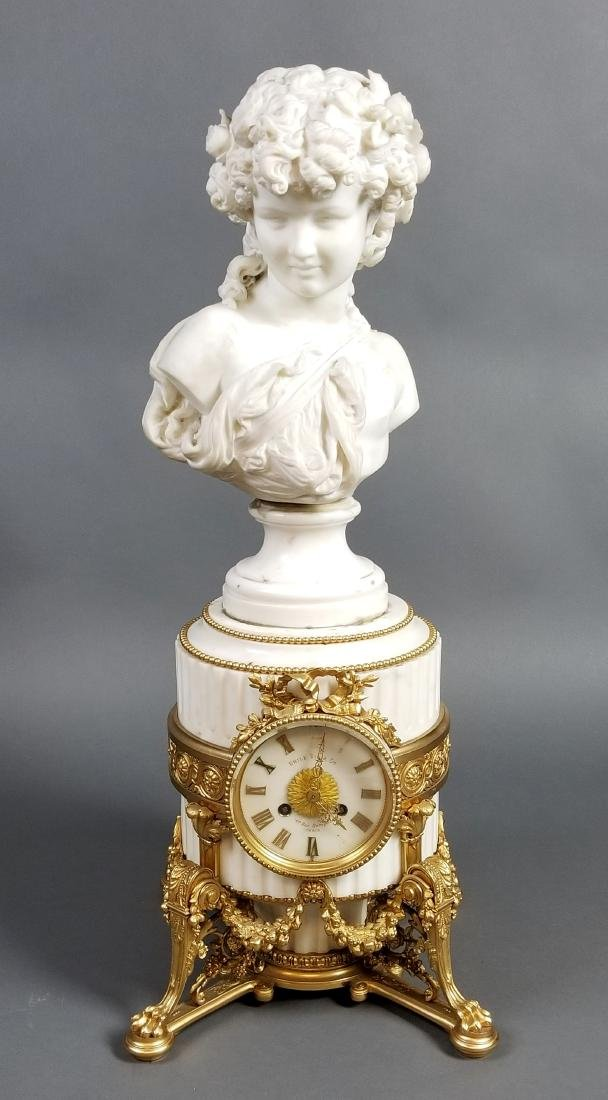 A Magnificent French Louis XVI Style Marble and Gilt