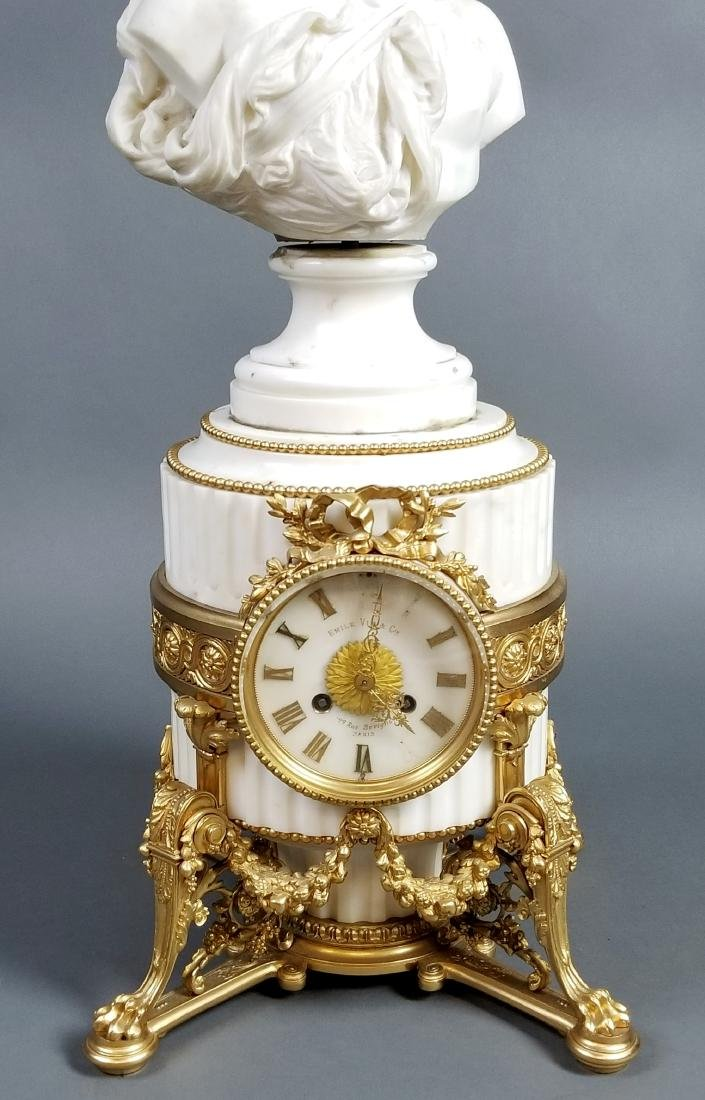 A Magnificent French Louis XVI Style Marble and Gilt - 2