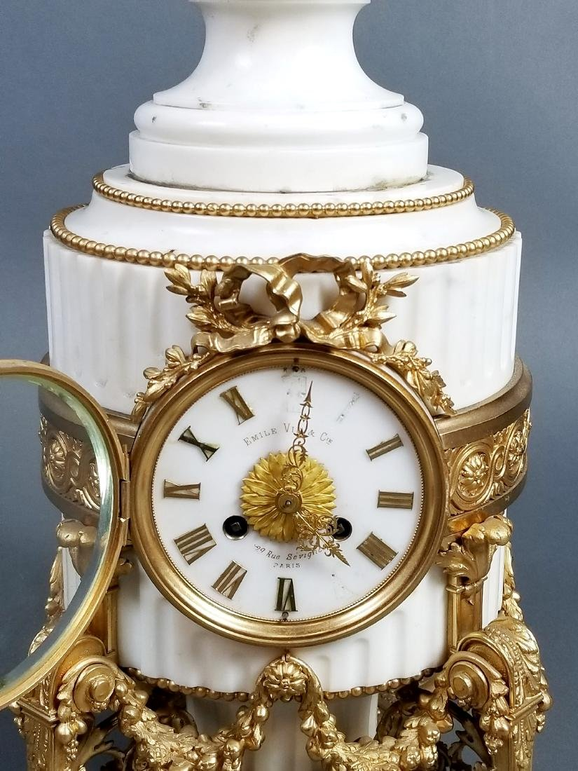 A Magnificent French Louis XVI Style Marble and Gilt - 4