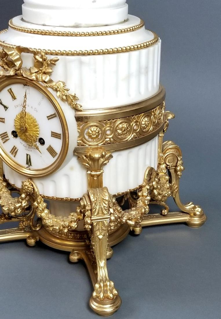A Magnificent French Louis XVI Style Marble and Gilt - 5