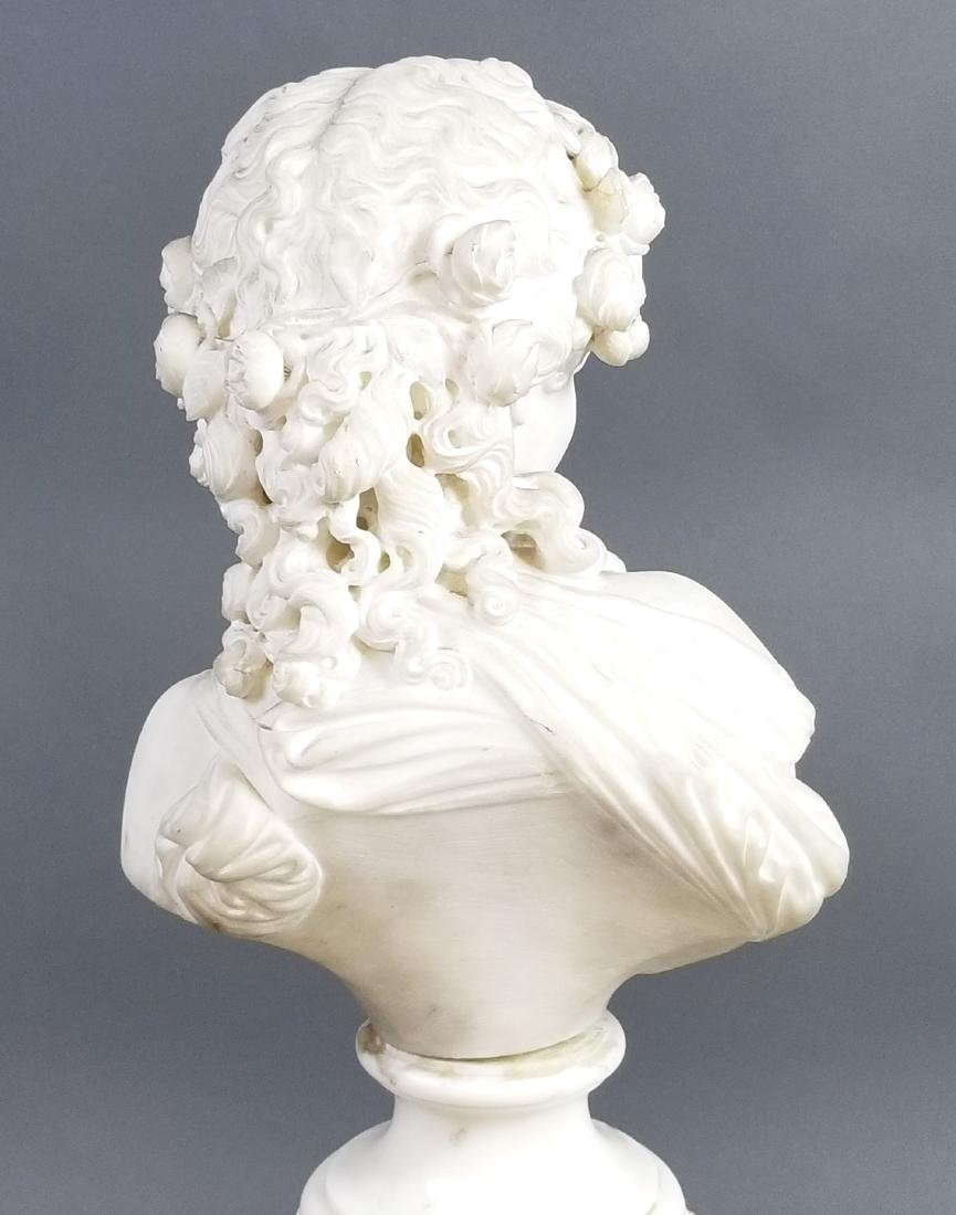 A Magnificent French Louis XVI Style Marble and Gilt - 6