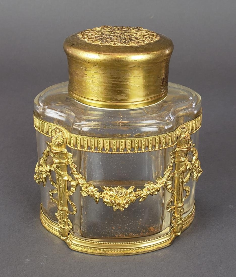 French Bronze & Baccarat Crystal Bottle