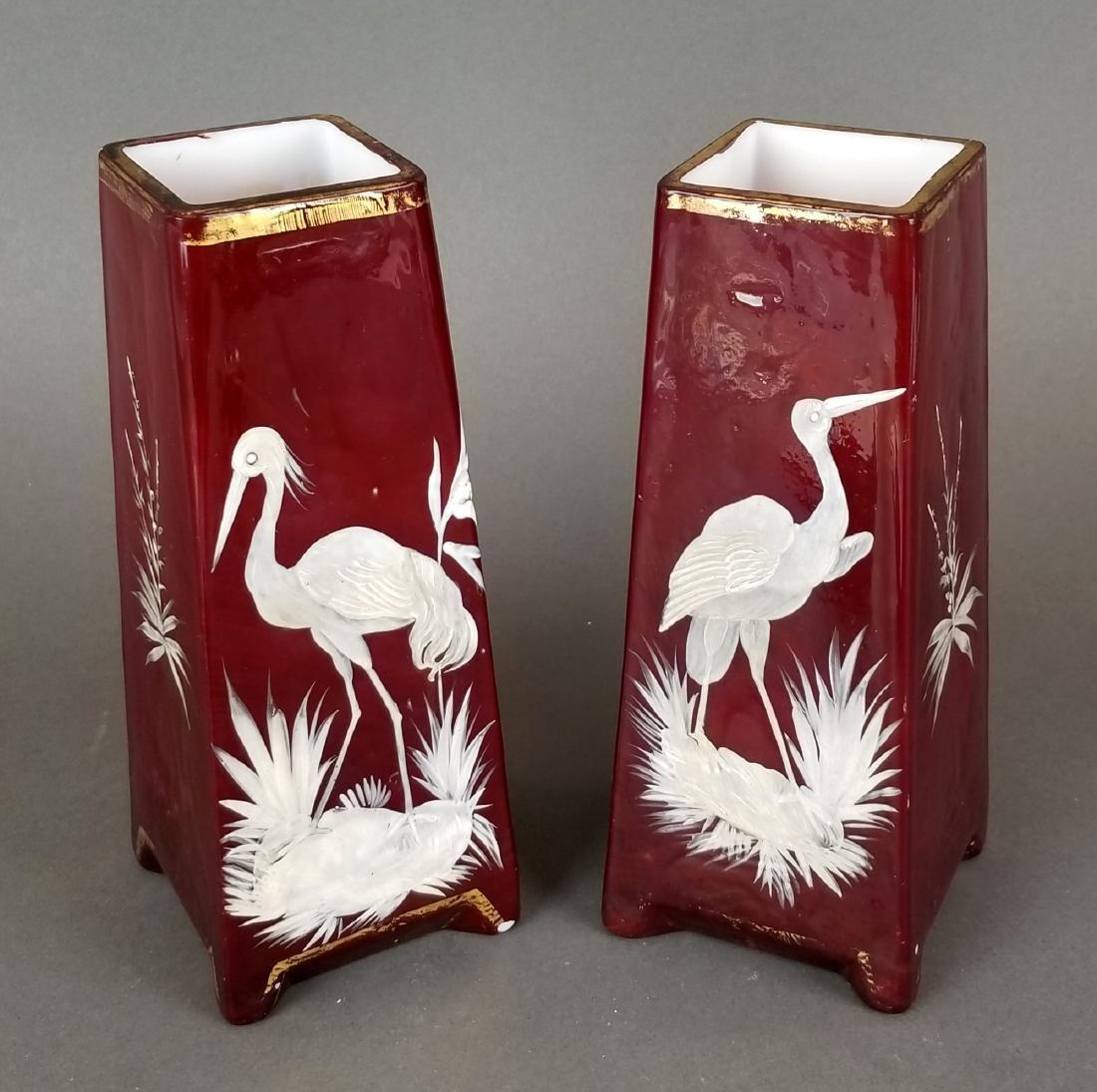 Pair of Continental Handmade Vases