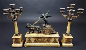 Empire Napoleon III, Circa 1860 Patinated & Gilt Bronze