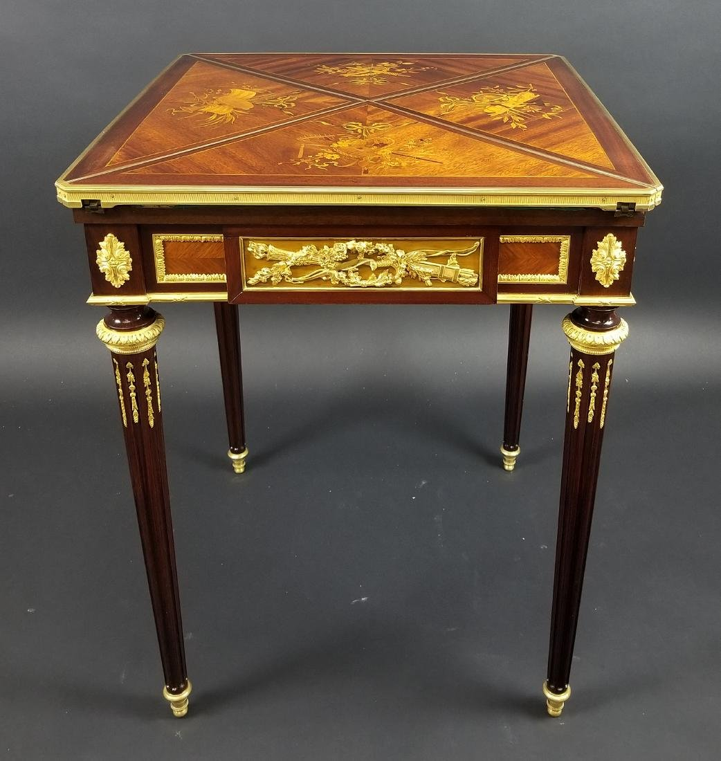Late 19th C. Louis XVI Style Gilt Bronze Mounted