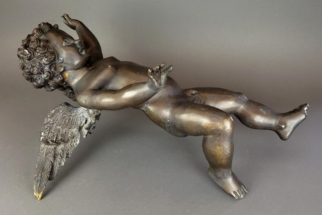 Large French Bronze Figure of Cherub