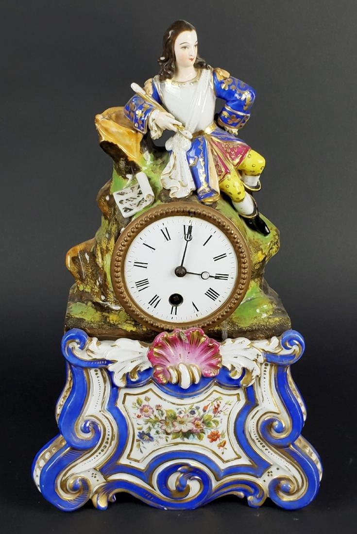 Paris Porcelain Figural Mantle Clock
