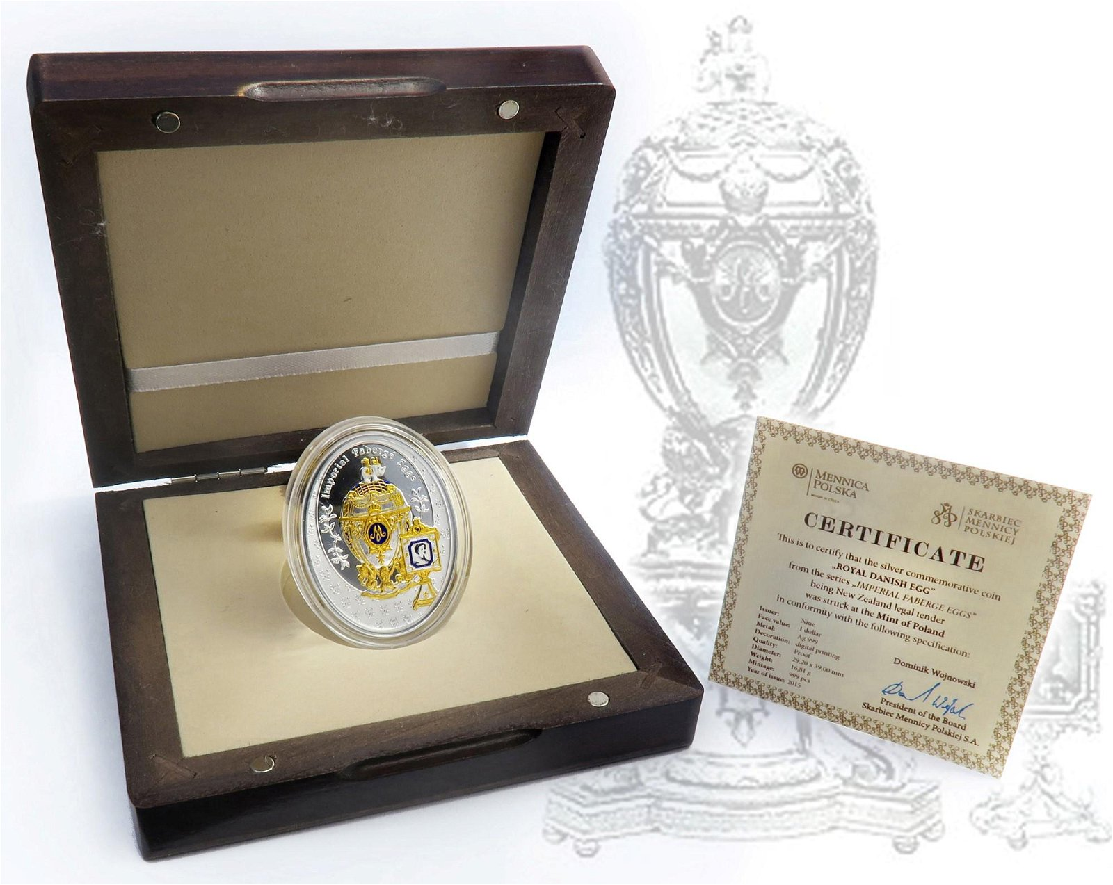 Faberge Royal Danish Silver Coin