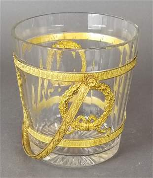 French Baccarat Crystal & Bronze Bucket
