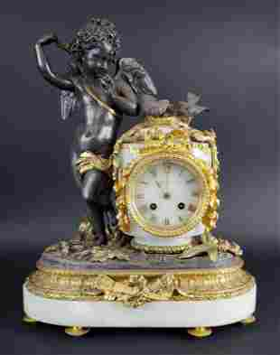 19th C. Charpentier A Paris Gilt & Patinated Bronze &