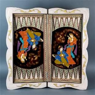 Magnificent Handmade Backgammon & Chess set