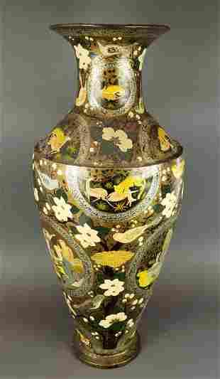 Antique Persian Large Papier Mache Vase
