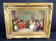 19th C. Vienna Plaque Depicting Johannes Hus at the