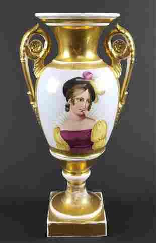 Late 19th C. Old Paris Porcelain Vase