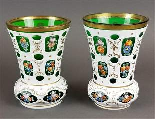 Pair of Bohemian Vases