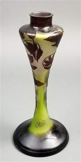 Galle Cameo Vase, Circa 1900