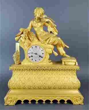 18th C. Exquisite Large Mercury Gold Empire Figural
