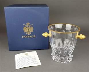 Faberge Atelier Crystal & Bronze Ice Bucket