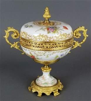 Sevres Style Porcelain Covered Bowl